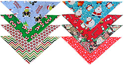 Holiday Tie-On Bandanas